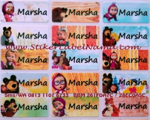 Label Nama Masha and The Bear