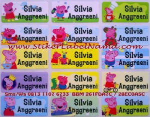 Label Nama Peppa Pig