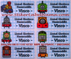 Stiker Label Nama Thomas
