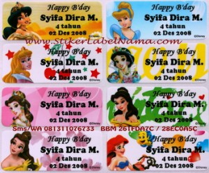 Label Nama All Princess