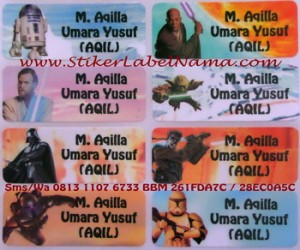 Stiker Label Nama Star Wars