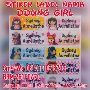 Stiker Label Nama Ddung Girl