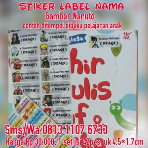 Sticker Label Nama Naruto