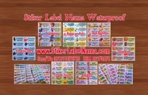 Sticker Nama Waterproof