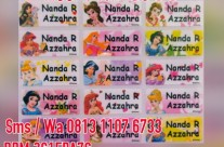 Cetak Label Nama All Princess