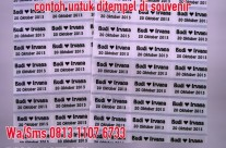 Sticker Label Nama Transparan