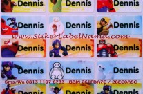 Jual Label Nama Big Hero