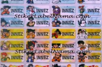Jual Label Nama Dragon Ball