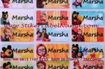 Jual Label Nama Masha and The Bear