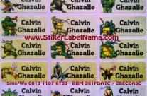 Jual Label Nama Ninja Turtles
