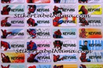 Jual Label Nama Spiderman