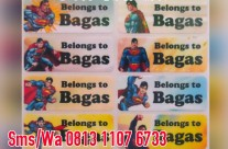 Sticker Label Nama Superman