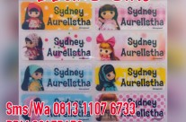 Sticker Label Nama Ddung Girl