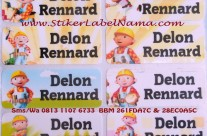 Jual Stiker Nama Bob The Builder
