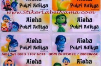 Stiker Label Nama Inside Out