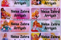 Label Nama Barbie