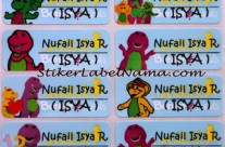 Label Nama Barney