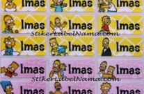 Label Nama Bart Simpson