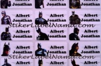 Stiker Label Nama Batman