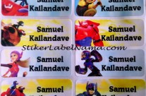Stiker Label Nama Big Hero 6