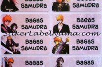 Stiker Label Nama Bleach