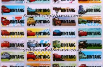 Label Nama Cars