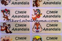 Stiker Label Nama Chip n Dale