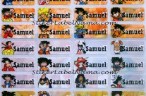 Stiker Label Nama Dragon Ball