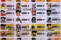 Label Nama Dragon Ball