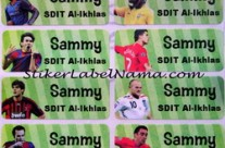 Label Nama Football Player