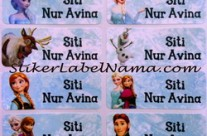 Label Nama Frozen