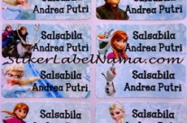 Stiker Label Nama Frozen