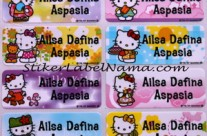 Label Nama Hello Kitty