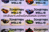 Stiker Label Nama Hot Wheels
