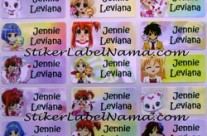 Stiker Label Nama Jewelpet