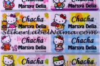 Stiker Nama Hello Kitty Transparan
