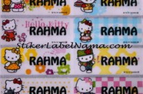 Label Nama Hello Kitty Transparan