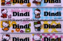 Label Nama Kitty Transparan