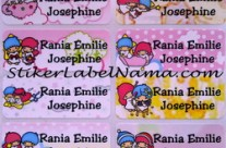 Stiker Label Nama Little Twin Stars