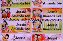 Stiker Label Nama Love