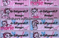 Label Nama Marie Cat