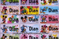 Label Nama Mickey
