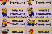 Label Nama Minion