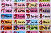 Stiker Label Nama My Melody
