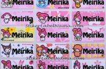Label Nama My Melody
