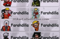 Label Nama Naruto