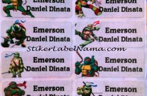 Stiker Label Nama Ninja Turtles