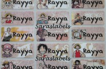 Stiker Label Nama One Piece