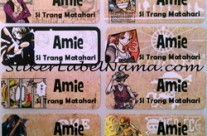 Stiker Nama One Piece