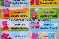 Stiker Label Nama Peppa Pig